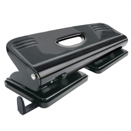5 Star Office 4 Hole Punch Metal Black